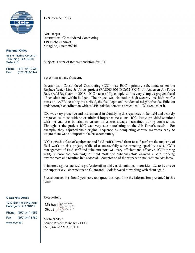 International Consolidated Contracting Llc Letters Of